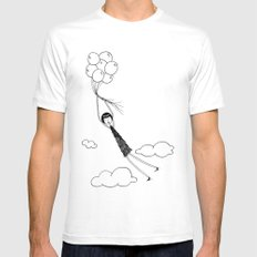 In the air SMALL White Mens Fitted Tee