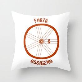 Forza e Ossigeno Throw Pillow