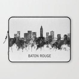 Baton Rouge Louisiana Skyline BW Laptop Sleeve