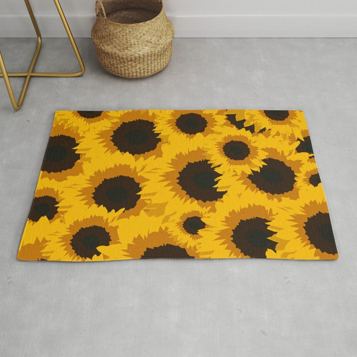 Sunflower Love Rug