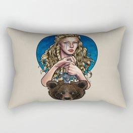 Goldilocks, Viking Bear Hunter Rectangular Pillow