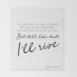 I'll rise #minimalism Throw Blanket