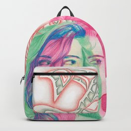 Salmon Art Backpack