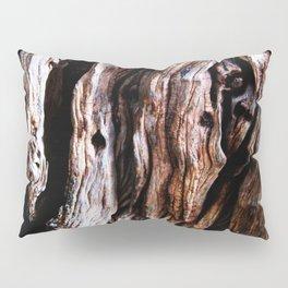 Ancient olive tree wood close-up Pillow Sham