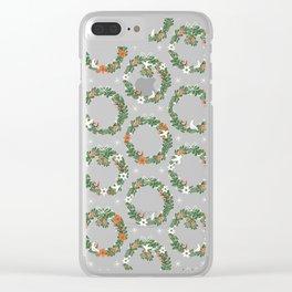 Christmas Wreath Clear iPhone Case