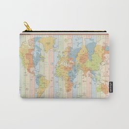 Standard Time Zones of the World Map Carry-All Pouch