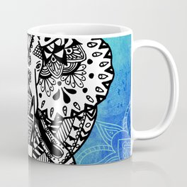 Zentangle Elephant - Blue Coffee Mug