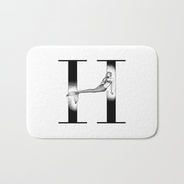 Mermaid Alphabet Series - H Bath Mat