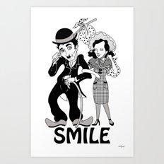 Charlie Smile Art Print