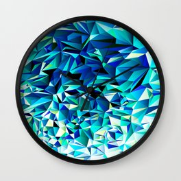 Green & Navy No. 1 Wall Clock