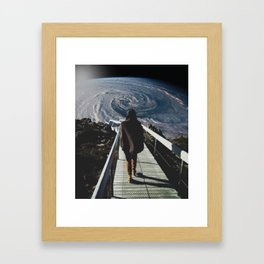 Hitchhiker's guide to galaxy Framed Art Print