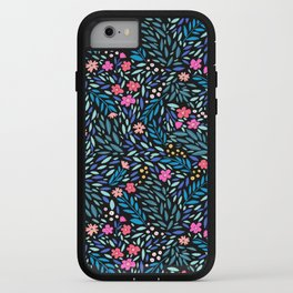 Teeny Tiny Floral Black iPhone Case