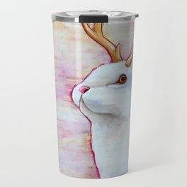 White Jackalope Travel Mug