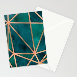 Copper & Emerald Geo Stationery Cards