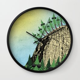 Sunning Trees Print Wall Clock