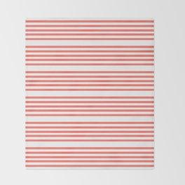 Mariniere marinière – coral 2 Throw Blanket