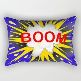 Boom Cartoon Bubble Rectangular Pillow