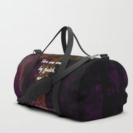 2 Corinthians 5:7 Bible Verse Quote About Faith Duffle Bag
