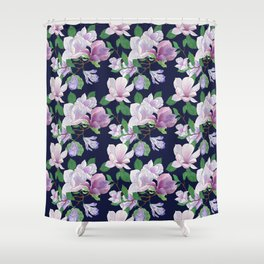 Magnolia Floral Frenzy Shower Curtain