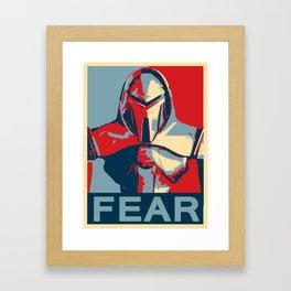 Vote for Cylon Framed Art Print