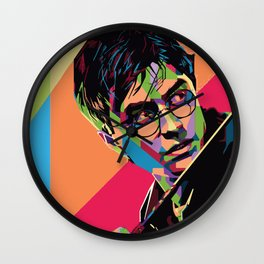 Abstract Harry.Potter Pop-Art Fan Art Wall Clock