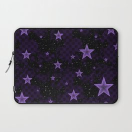 Purple Neon Stars Laptop Sleeve