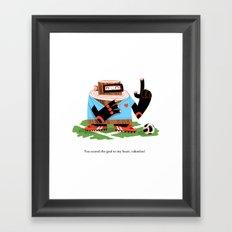 Wooden Robot Valentine Framed Art Print