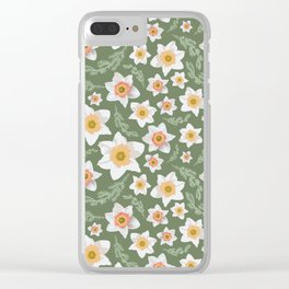 Dancing Daffodils Clear iPhone Case
