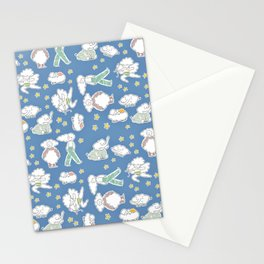 Clouds & Dreams - Dreamy Blue Pallete Stationery Cards