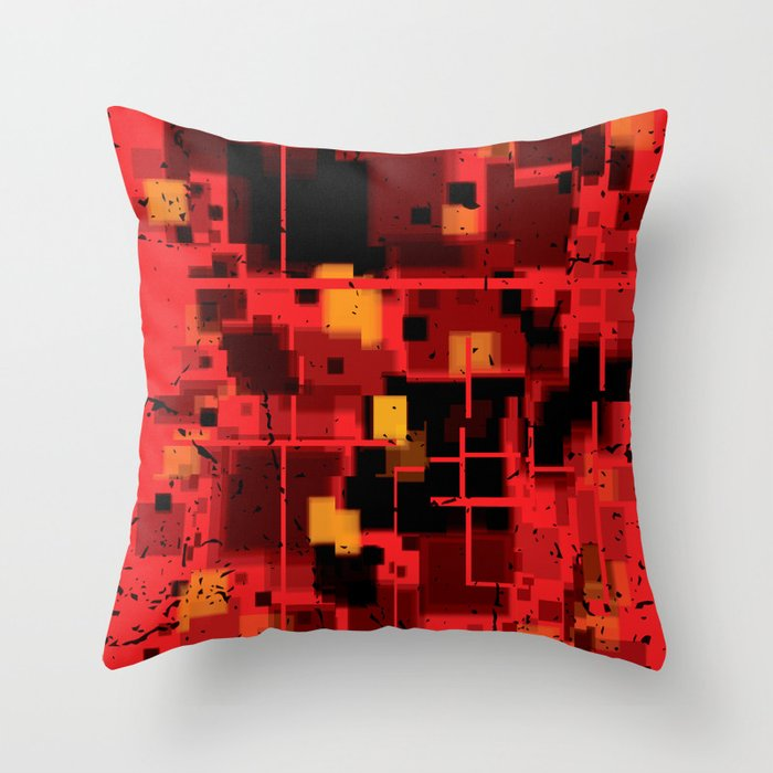 Abstract Composition #4 Throw Pillow
