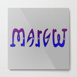 Margret (Ambigram) Namendreher Metal Print