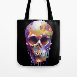 colorful skull black Tote Bag