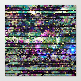 Gold Triangles on Abalone Marble Canvas Print