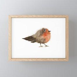 Fuzzy Bird Framed Mini Art Print