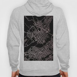 Wilkes-Barre Rose Gold and White Map Hoody