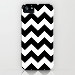 BLACK AND WHITE CHEVRON PATTERN iPhone Case