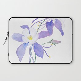 purple columbine flower Laptop Sleeve