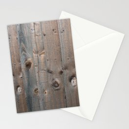 Brown Wooden Fence Stationery Cards