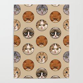 Polka Meaw Poster