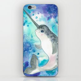 Baby narwhal iPhone Skin