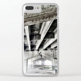 Urban Landscape Unde the Bridge Clear iPhone Case