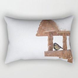 Parus Major bird Rectangular Pillow