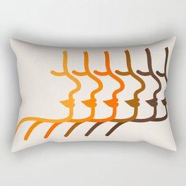 Golden Silhouettes Rectangular Pillow