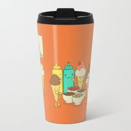 Ice Cream Hair Fun Travel Mug