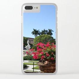 Bougainvillea Row Clear iPhone Case