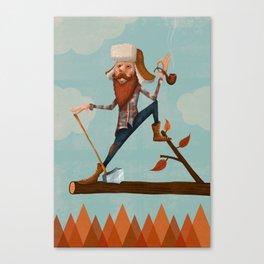 Lumber Jack Canvas Print