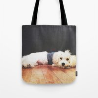 chuck Tote Bags featuring Chuck by courtneeeee
