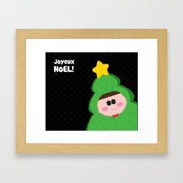 Joyeux Noel - Tree Framed Art Print