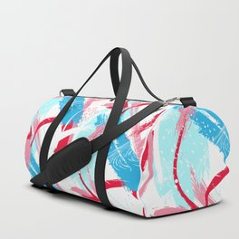 Expressive red Duffle Bag