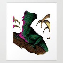 Lizard in repose Art Print